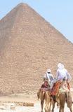 Pyramiden von Gizeh Giza Stockbild