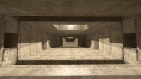 Pyramideninnenraum SCIFI Stockfotografie