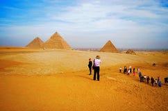 Pyramider är det det äldst av de sju underna av den forntida världen, och den enda återstår i hög grad intakt Arkivbild