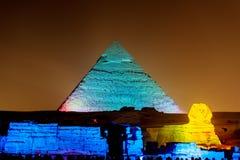 Pyramider av Giza i Kairo royaltyfri foto
