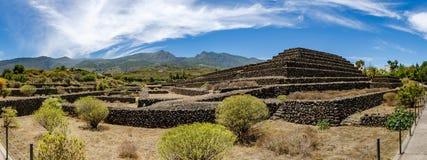 Pyramider av Guimar på Tenerife Royaltyfria Foton