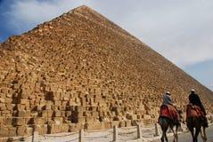 Pyramider av Khafre (Chephren) och Cheops Giza Egipt Arkivfoton