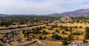 Pyramider av Teotihuacà ¡ n, Mexico Fotografering för Bildbyråer