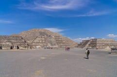 Pyramider av Teotihuacà ¡ n, Mexico Royaltyfri Foto