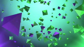 Pyramider i luften med grön bakgrund Royaltyfria Bilder