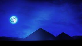 Pyramider på natten royaltyfri illustrationer