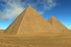 pyramider två Arkivfoto