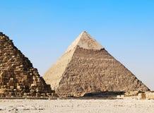 Pyramiderna av Giza arkivfoto