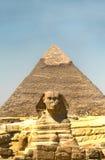 Pyramiderna och sfinxen på Giza egypt 2008 september Royaltyfri Fotografi
