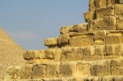 Pyramides à Giza Photographie stock libre de droits
