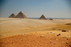 pyramides égyptiennes Photo stock