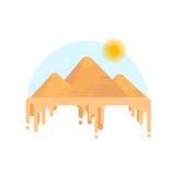 Pyramides égyptiennes de Gizeh Photographie stock libre de droits