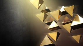 Pyramides 3D noires illustration stock