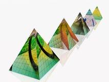 Pyramides stock de ilustración