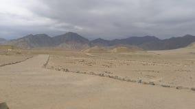 Pyramides in Caral, Lima, Peru Lizenzfreie Stockfotos