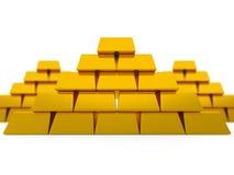 Pyramides d'or Photo libre de droits
