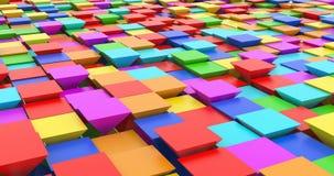 Pyramides de étude profondes de couleur d'abrégé sur ordinateur de grandes données illustration libre de droits