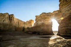 Pyramides de craie de roche de monument Image libre de droits