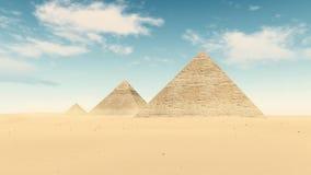 Pyramides de désert de l'Egypte grandes du timelapse 4K de Gizeh clips vidéos