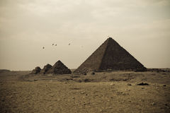 Pyramides de Giza Photo stock