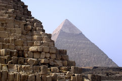 Pyramides de Giza, Egypte photographie stock libre de droits