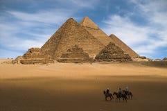 Pyramides de Gizeh Image libre de droits