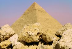 Pyramides de Gizeh, Egypte photo stock
