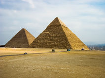 Pyramides de Gyza Photos stock