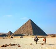Pyramides de l'Egypte à Giza image libre de droits