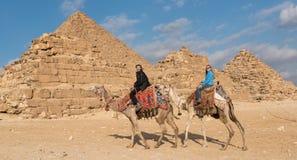 Pyramides de l'Egypte image libre de droits