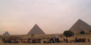Pyramides de l'Egypte images libres de droits