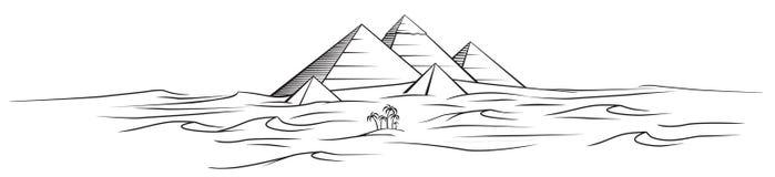 Pyramides de l'Egypte de vecteur images stock
