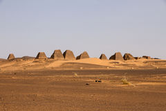 Pyramides de Meroe Images stock