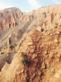 Pyramides de sable Photographie stock