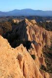Pyramides de saleté - formation de roche Image stock
