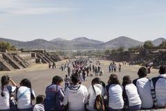 Pyramides de Teotihuacan au Mexique Images stock