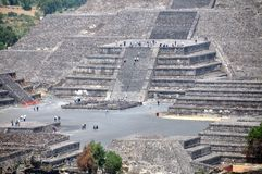 Pyramides de Teotihuacan, Mexique Photos libres de droits