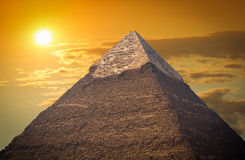 Pyramides des pharaons à Gizeh Photo stock