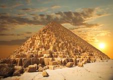 Pyramides des pharaons à Gizeh Photographie stock libre de droits