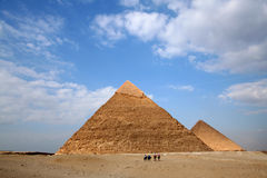 Pyramides di gizeh Fotografia Stock