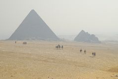 Pyramides of Giza Royalty Free Stock Photography