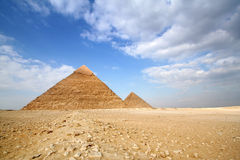 Pyramids of gizeh Stock Images