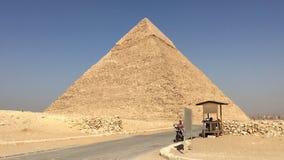 Pyramides im kairo Stockfotos