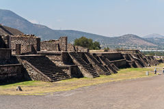 Pyramides Mexique de Teotihuacan Images stock