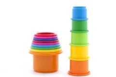 Pyramidion de jouet sur le blanc Images stock