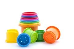 Pyramidion de jouet sur le blanc Image stock