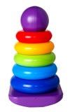 Pyramidion multicolore dei bambini isolato Immagini Stock