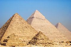 Pyramids. Feature of pyramids, in Giza royalty free stock photos