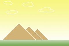 Pyramids. Giza pyramids in Egypt beside the river Nile Stock Photo
