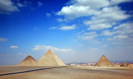 Pyramids. Tombs of the pharaohs in Giza, Egypt Royalty Free Stock Photo